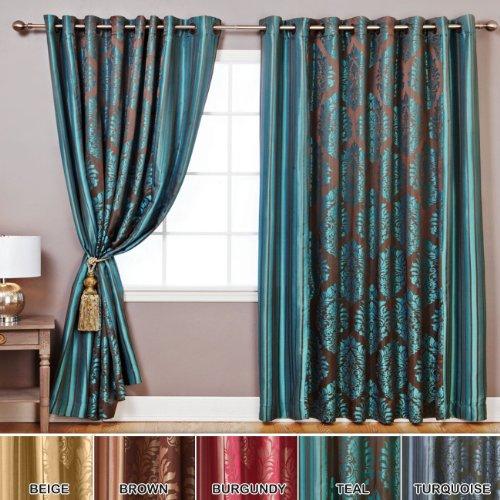 Image result for GREENISH BLUE brocade curtain