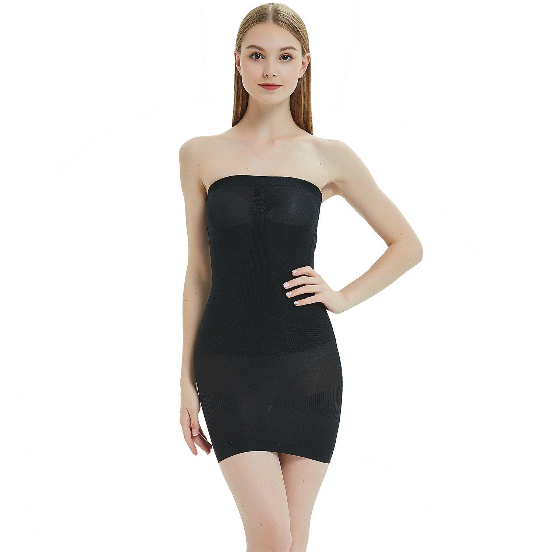 537289e6d4f3 Defitshape Women's Slip Seamless Shapewear Strapless Smooth Tube Under  Dresses Body Shaper at Amazon Women's Clothing store: