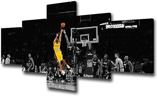 Amazon Com Black And Yellow Background Nba Match Wall Art