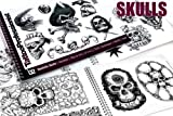 Tattoo Professionist #2 Realistic Skulls Tattoos 82-Page Flash Book