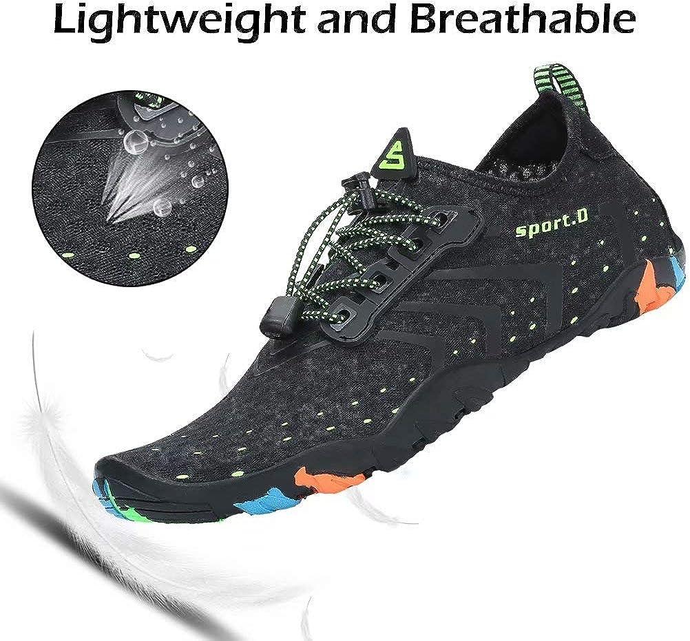 Oberm Womens Mens Water Shoes Quick-Dry Barefoot Aqua Socks