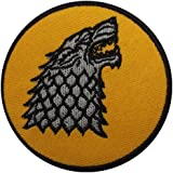 Game of Thrones House Stark Direwolf Iron Sew on Embroidered Patch Fancy Dress