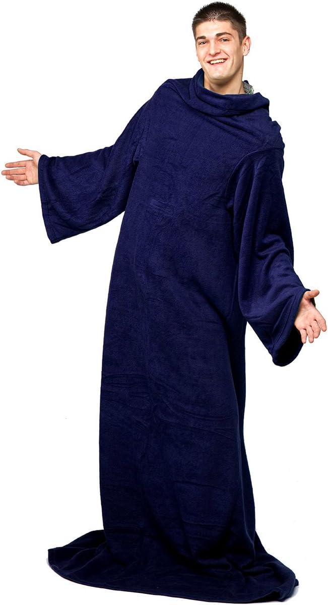 couverture en molleton avec des manches et une poche poche pratique Bleu marine Snug Rug Cosy