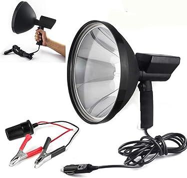 8000 LM 12V 100W HID 9in 240mm Handheld Lamp Camping Hunting Fishing Spotlight