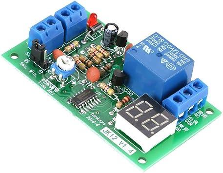 Commutateur de Minuterie Hebdomadaire 5V DC 16A Interrupteur Relais de Minuterie Programmable Contr/ôle Marche//Arr/êt LCD Avec Fonction de Compte /à Rebours
