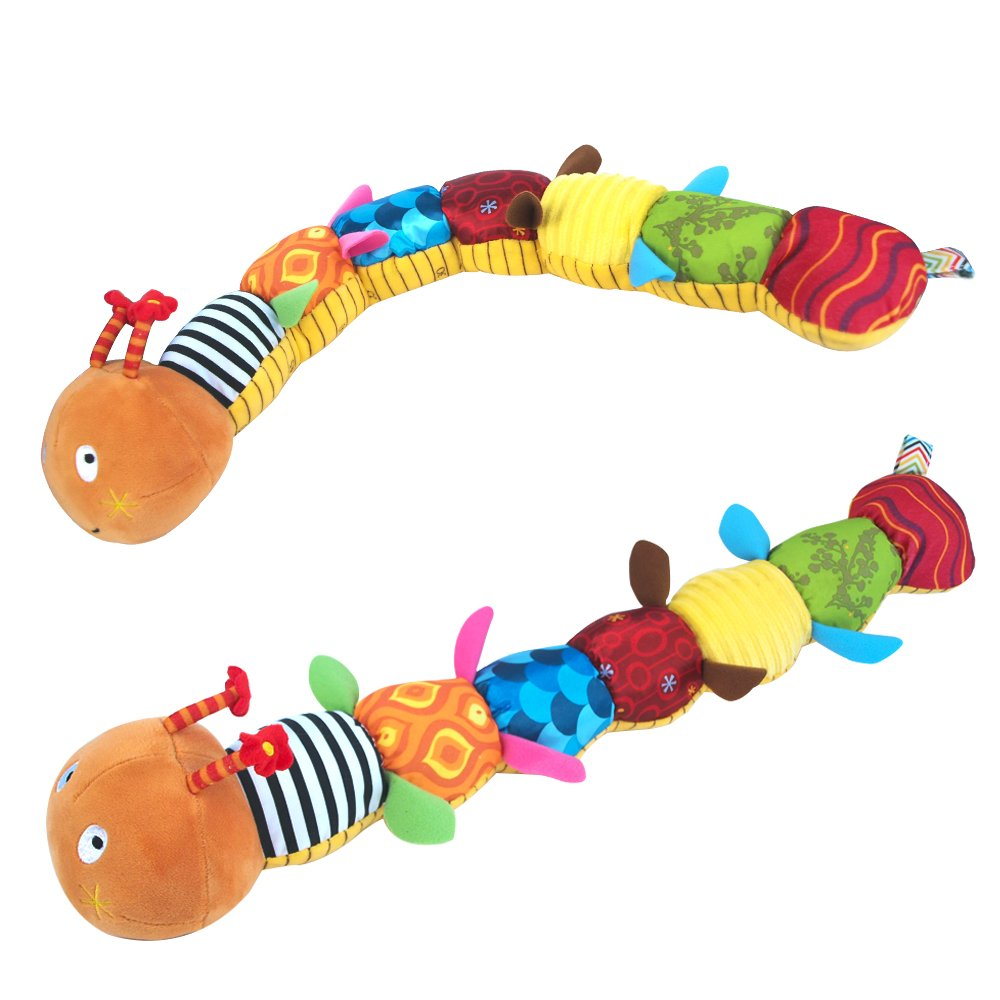 Musical Caterpillar Toy Rattle with Ring Bell