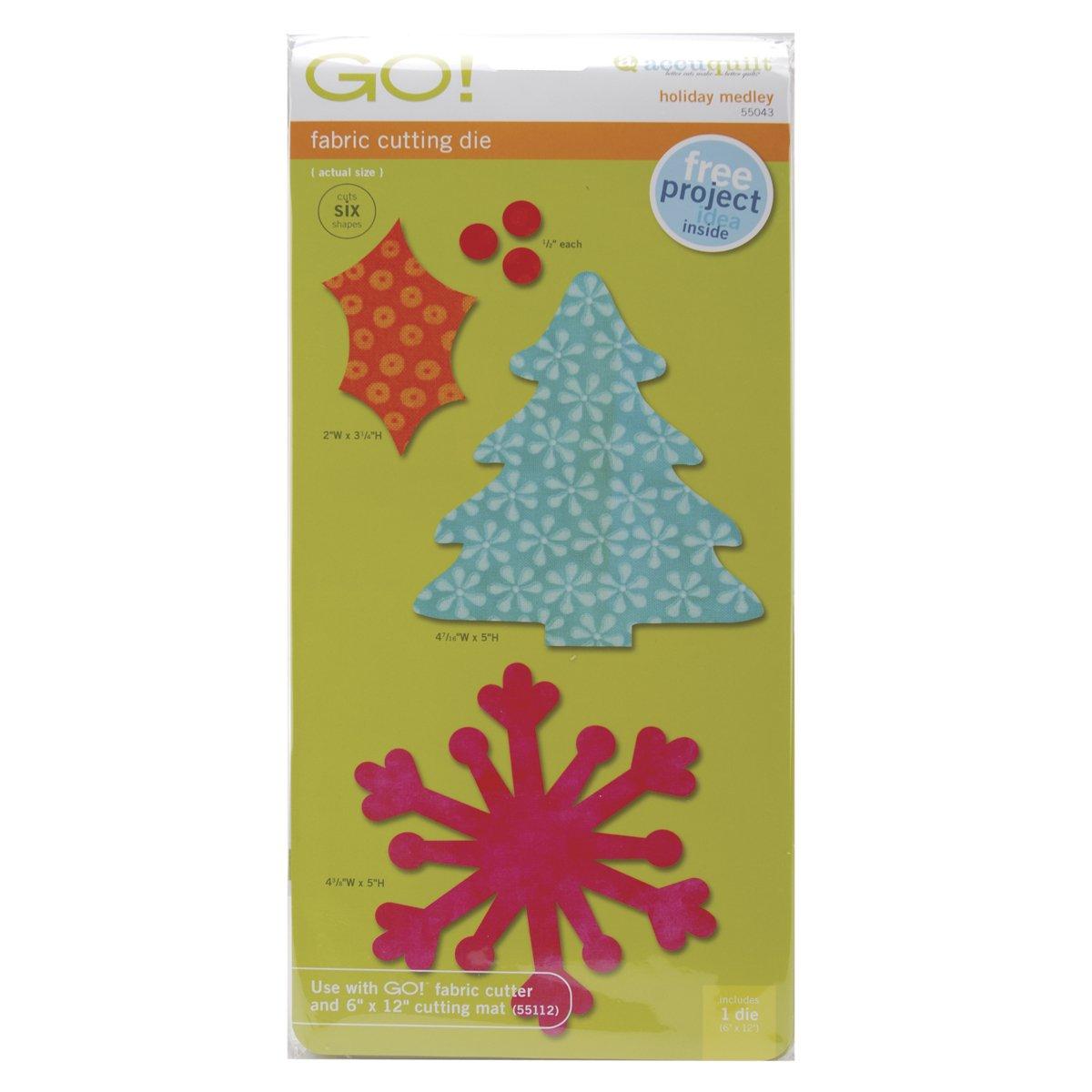 AccuQuilt 550-43 Go Fabric Cutting Dies, Holiday Medley