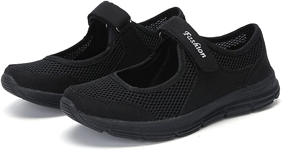 LANSKIRT Zapatillas Running de Mujer Sin Cordones Zapatos de ...