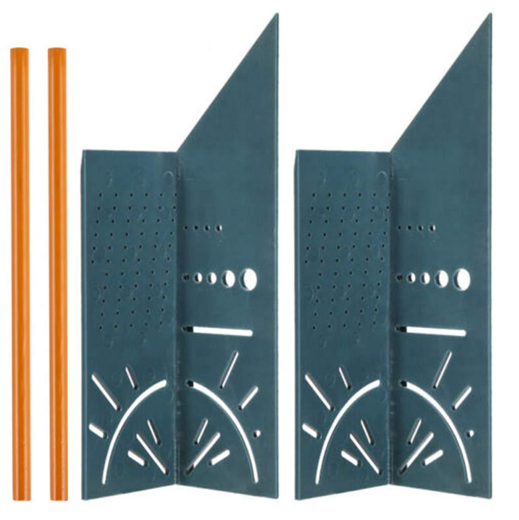 Sisit 3D-Gehrungswinkel f/ür die Holzbearbeitung 3D-Messwerkzeug f/ür quadratische Abmessungen Mit Messger/ät und Lineal f/ür Tags A 1 PC, Schwarz Messen und /Übertragen der Winkelma/ße