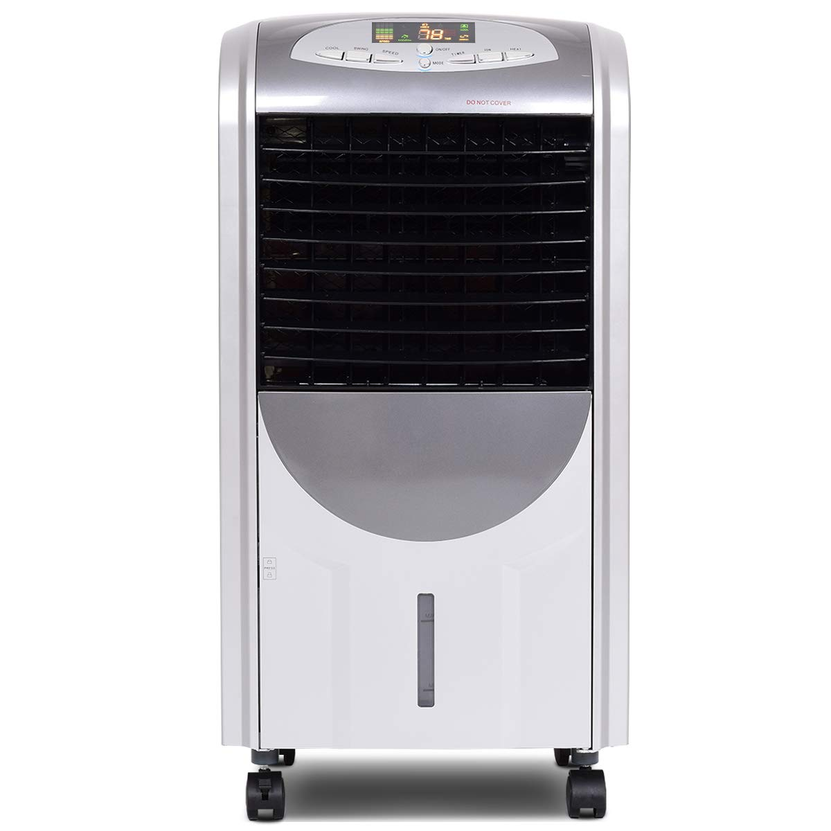 """Toolsempire Portable Air Conditioner Air Cooler and Heater with Fan Filter Humidifier 3 Wind Speed Ice Crystal Box Remote Control (29"""" H Grey)"""