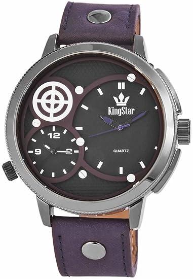 Pulsera de cuero de imitación con King Star nanoclipz: Amazon.es: Relojes