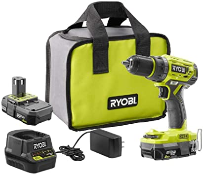 RYOBI Power Tool Combo Kit 18-Volt Brushed Motor Cordless Green Tools Only