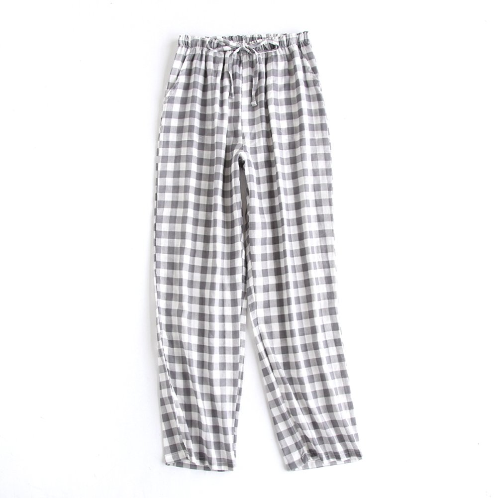 SYCLZ Big Boys Youth Woven 100/% Cotton Breathable Lightweight Sleep Lounge Pants Plaid Check Pajama Bottoms with Pocket