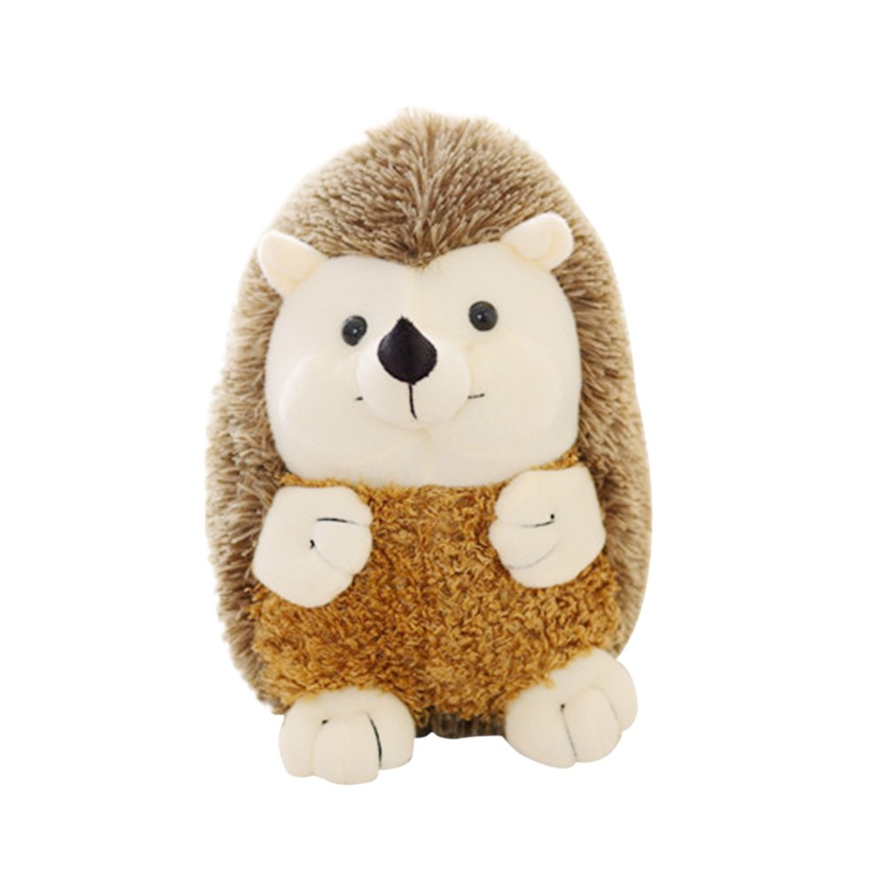 WDDH Plush Doll Hedgehog,Soft Plush Animal Toys,Nursery Decoration,Fun Hedgehog Shape Hug Pillow Gift For Kids Friend (Brown)