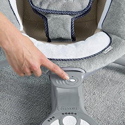 Ingenuity, Townsend 2 in 1 Babyschaukel und -sitz, zusammenklappbar, mit Vibrationen, 5 Schaukelgeschwindigkeiten, mehr als 8 Melodien und Lautstärkeregler 7