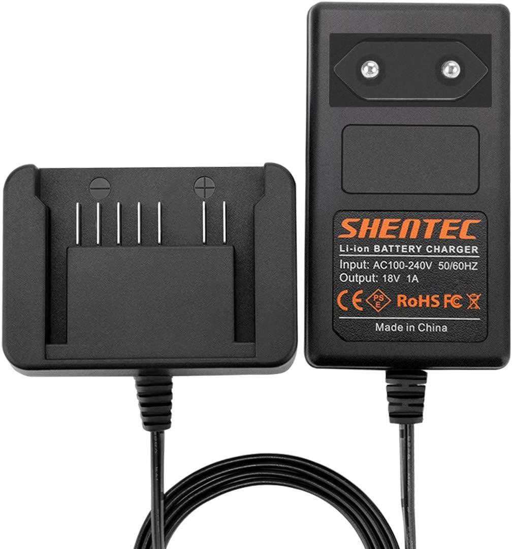 Shentec 18V Cargador de batería de litio de Compatible con Hitachi 18V 339782 BSL1830C BSL1815X BSL1815S BSL1830 330139 330557 Batería deslizante de iones de litio