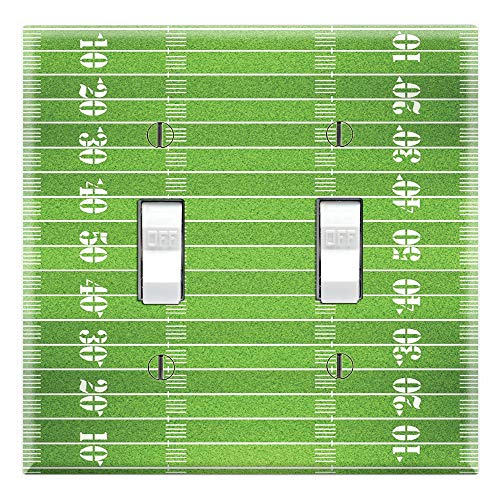 Graphics Wallplates - Football Field - Dual Toggle Wall Plate Cover ()