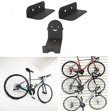 3 soportes de pared para bicicleta, soporte de acero, soporte para ...