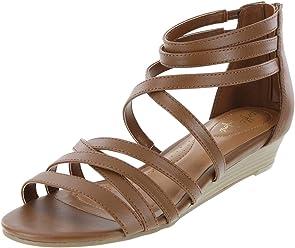 dexflex Comfort Womens Nessa Low Wedge Sandal