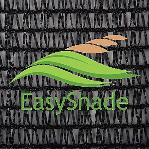 Easyshade 50% Sunscreen Black Shade Cloth UV Fabric (12ft x 10ft)