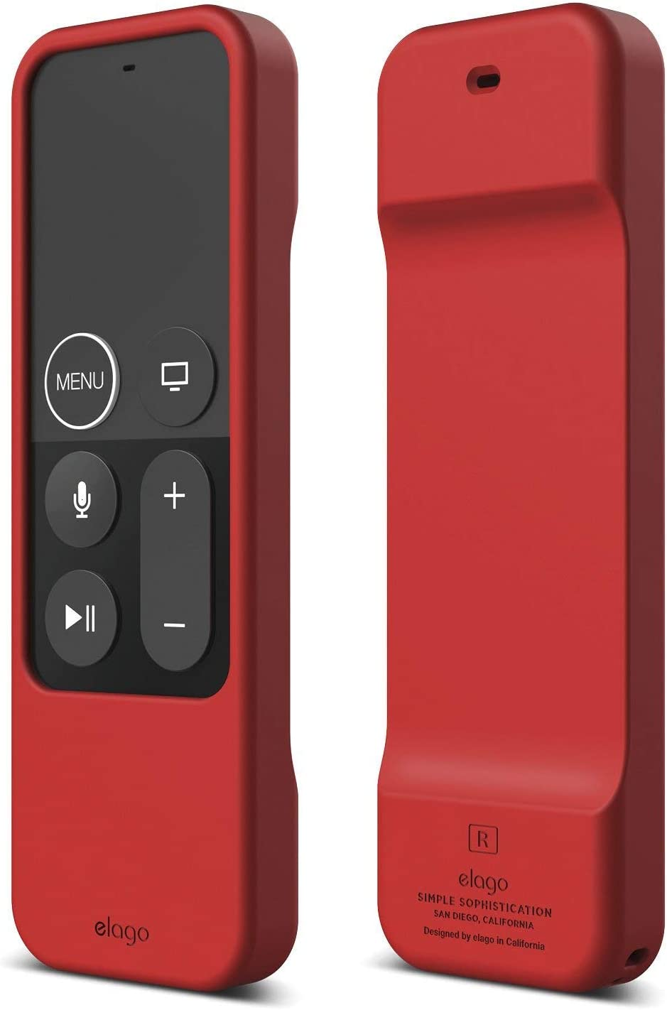 elago R1 Silicone Case Compatible with Apple TV 4K 4th and 5th Generation Siri Remote Control - Red