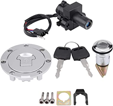 Motorcycle Ignition Switch Fuel Gas Cap Seat Lock Keys Fits for Honda CBR600 F2F3 1991-1998 Suuonee Ignition lock Key Kit