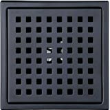 6-inch Shower Drain, Square Floor Drain with Tile Insert Grate Removable, Multipurpose Hair Trap, Invisible Look or Flat…