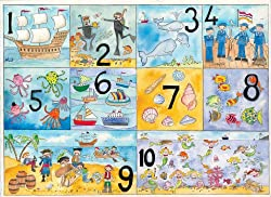 Really Giant Posters Seaside numbers Poster - Really Giant Size: 30 x 40 Inches