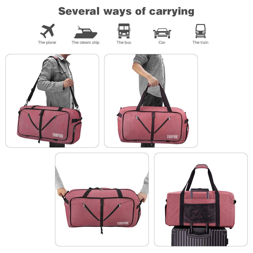 78236be6bb SUNPOW 65L Packable Travel Duffle Bag