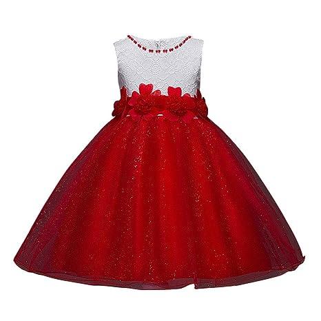Vestido Sin Mangas Para Niña Estilo Princesa Para Navidad
