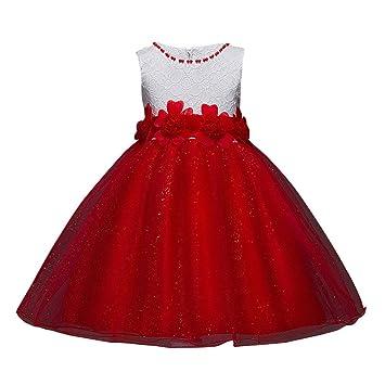 Vestido sin mangas para niña estilo princesa, para Navidad, bodas, dama de honor