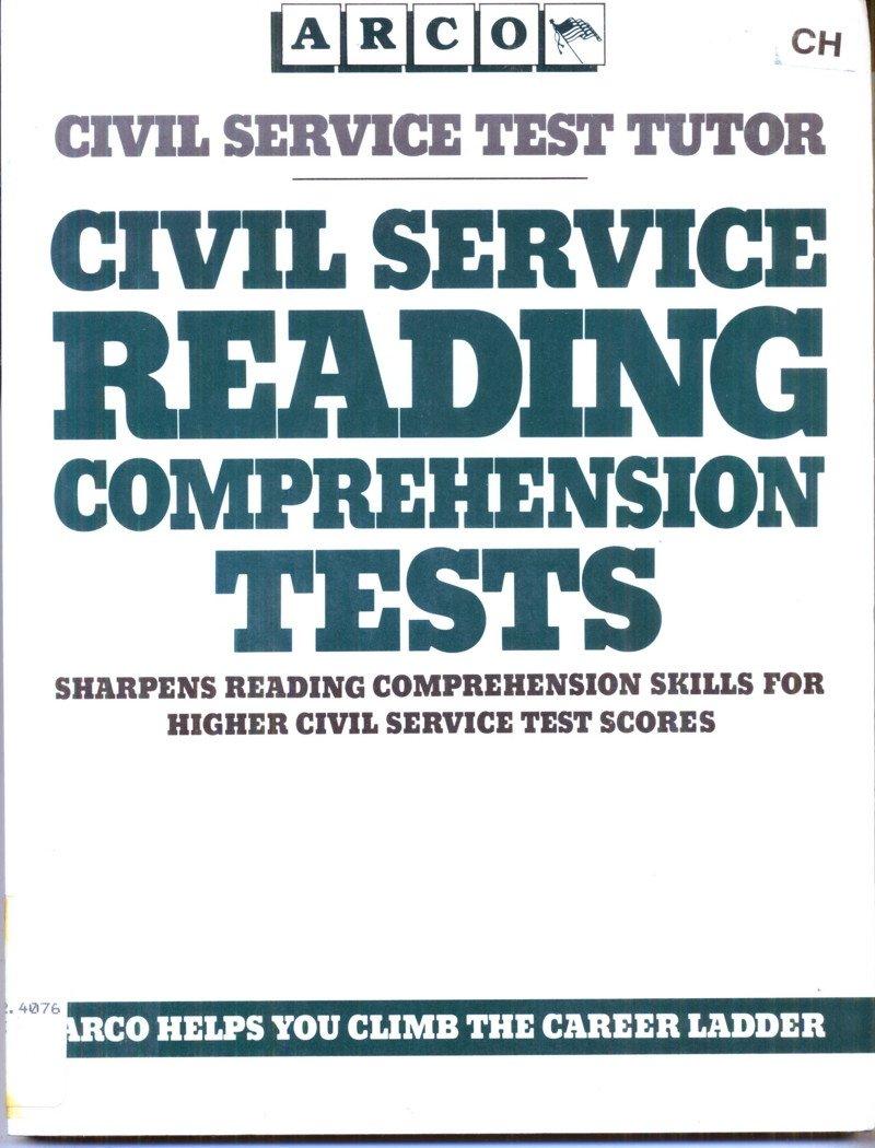 Buy Civil Service Reading Comprehension Tests: Arco Civil Service Test  Tutor Book Online at Low Prices in India | Civil Service Reading  Comprehension Tests: ...
