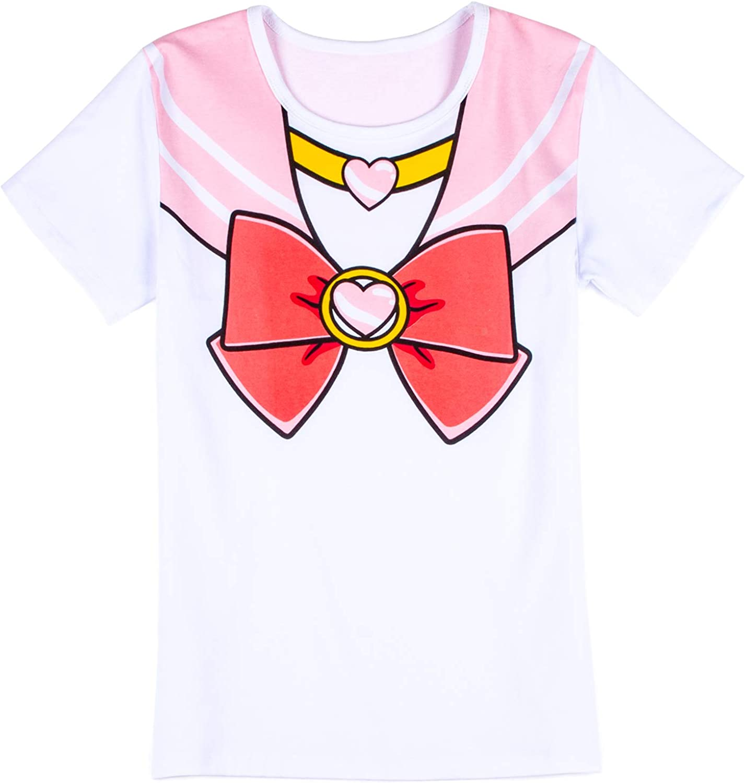 "Extra Large /""Cosplay/"" white SAILOR MOON T-shirts women premium"