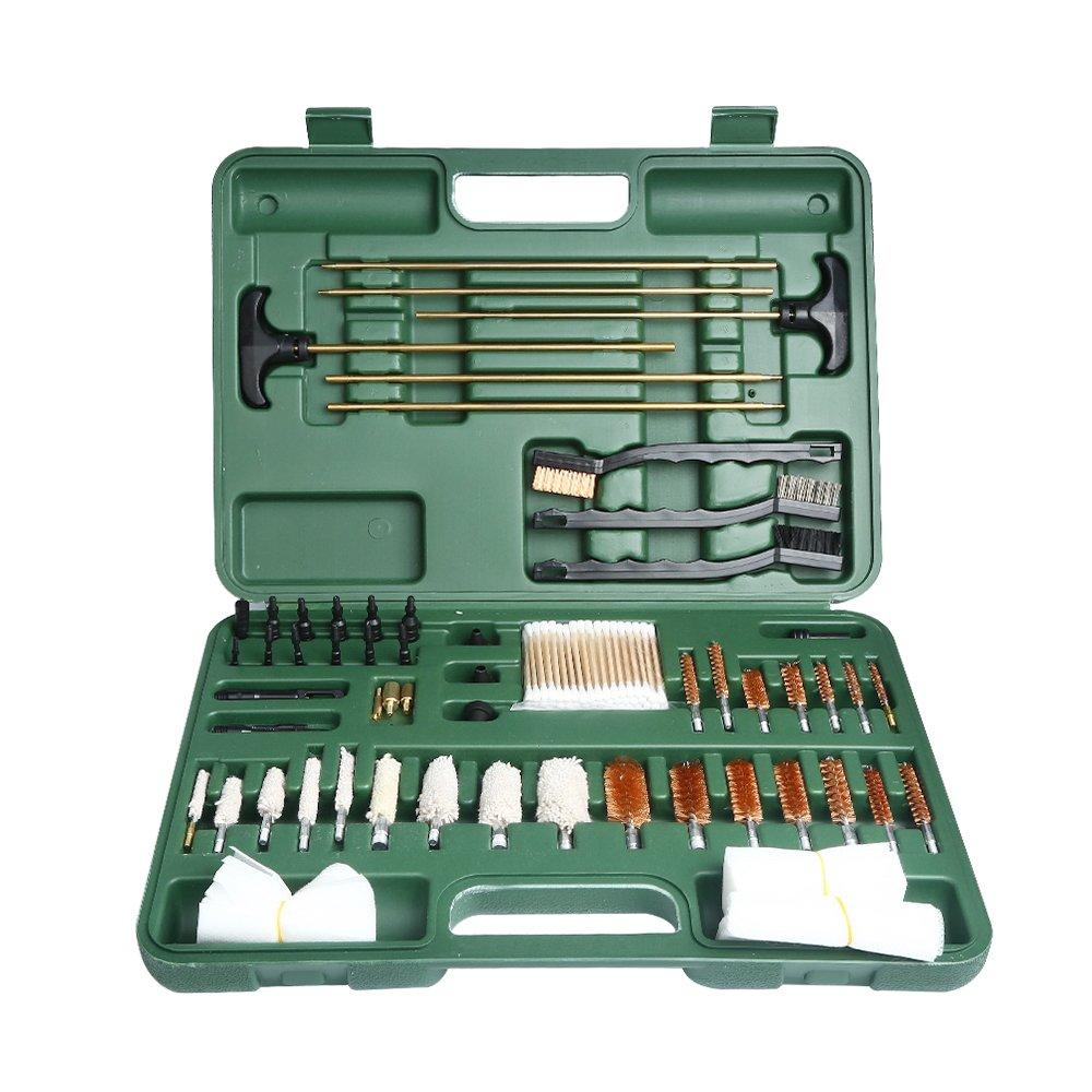 Onvian Gun Cleaning Kit, Universal Caliber Brushes Tips Jags for Hunting Rilfe Handgun Shotguns