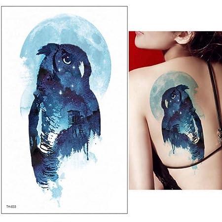 3 Piezas Hoja Cuerpo Arte Brazo Hombro Espalda Tatuaje Temporal ...