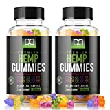 Hemp Gummies Supplements for Stress Relief Aid Mood Inflammation Focus Calm Extra Strength Vitamin Chewable for Adults, Best