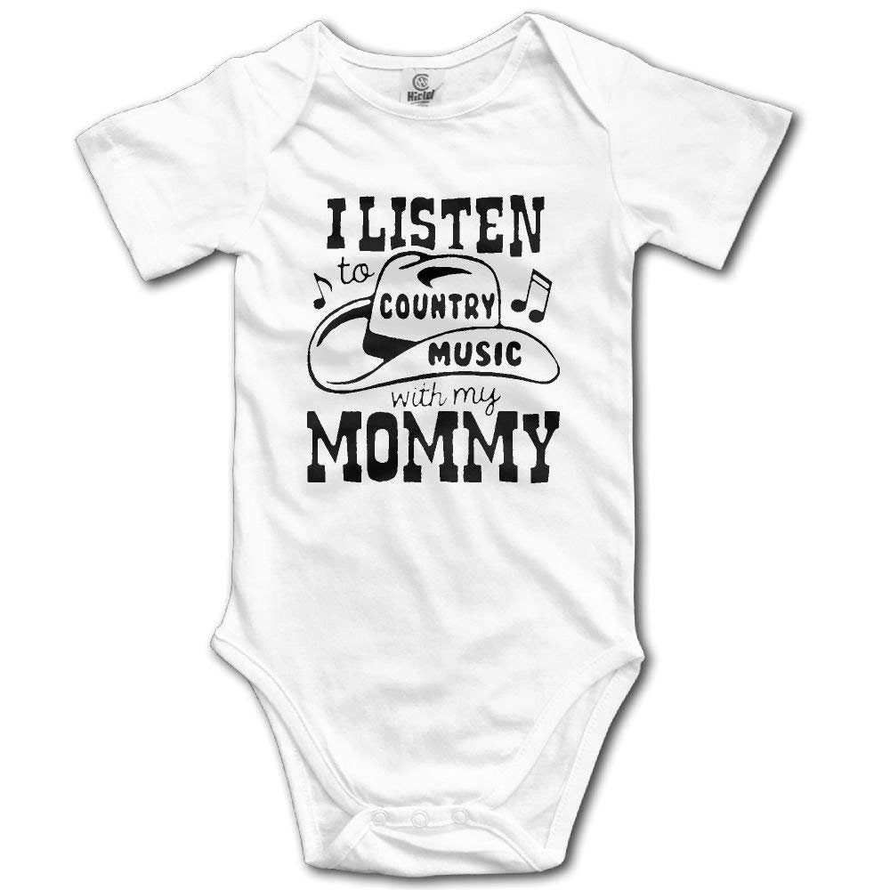 liu chunyans I and My Mother Listen to Country Music Newborn Unisex Boys Girls Short Sleeve Bodysuit Outfits