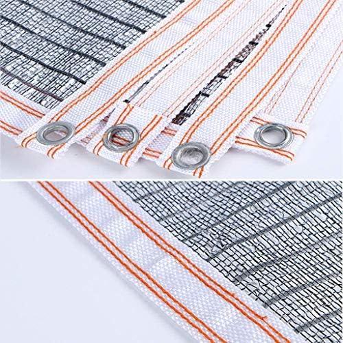 Ombra Panno 85% di Alluminio Ombra Net for Cortile Balcone Isolamento Termico Ombra reticolato Pergola Tetto della Veranda-Multi Size (Size : 6x9ft-2x3m)