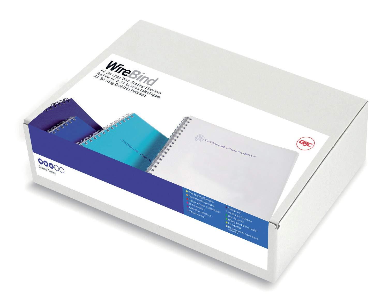GBC RG810570 Lot de 100 Peignes m/étalliques WireBind Blanc