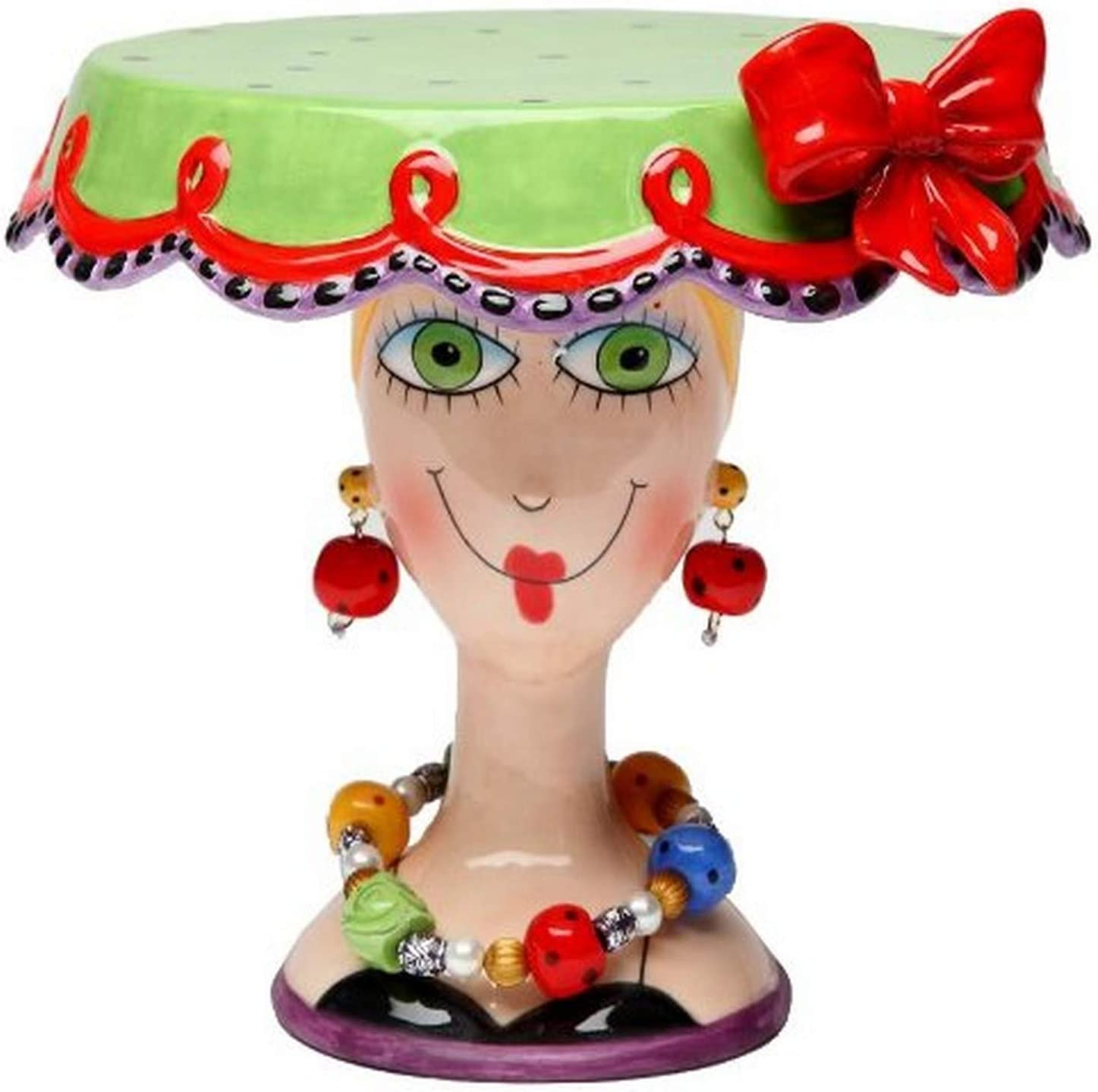 Appletree 6-1/2-Inch Sugar High Social by Babs Ceramic Cake Stand