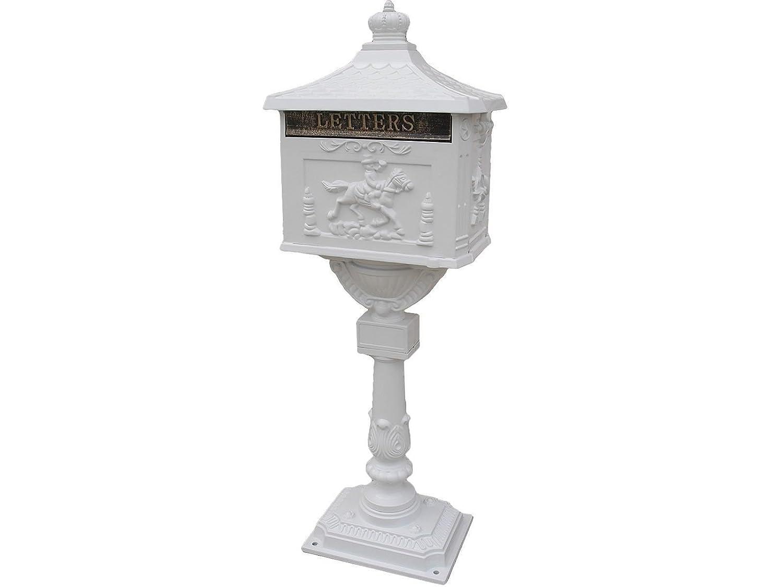 メールボックスHeavy Dutyメールボックス郵便ボックスセキュリティキャストアルミ垂直台座 HW45239WH B07234X1CL 28948  ホワイト