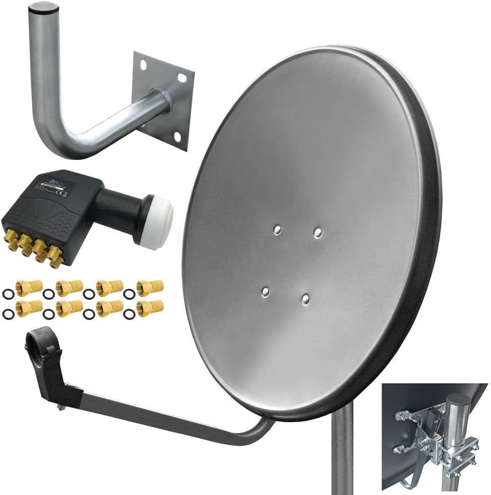 Arli - Kit de instalación de antena satélite HD Octo LNB y ...