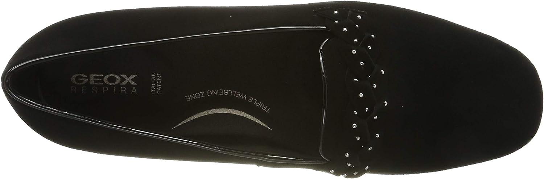 Geox D ANNYTAH C dames gesloten ballerina's zwart zwart zwart C9999