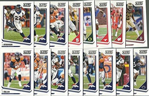 2018 Panini Score Football Denver Broncos Team Set 16 Cards W/Drafted Rookies