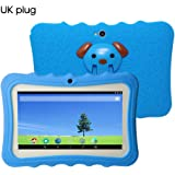 Docooler 7\ Kids Tablet PC 8GB Quad-Core Wi-Fi Tablet PC Pad with Shock-Proof Silicone Protective Case for Children Educational Gift