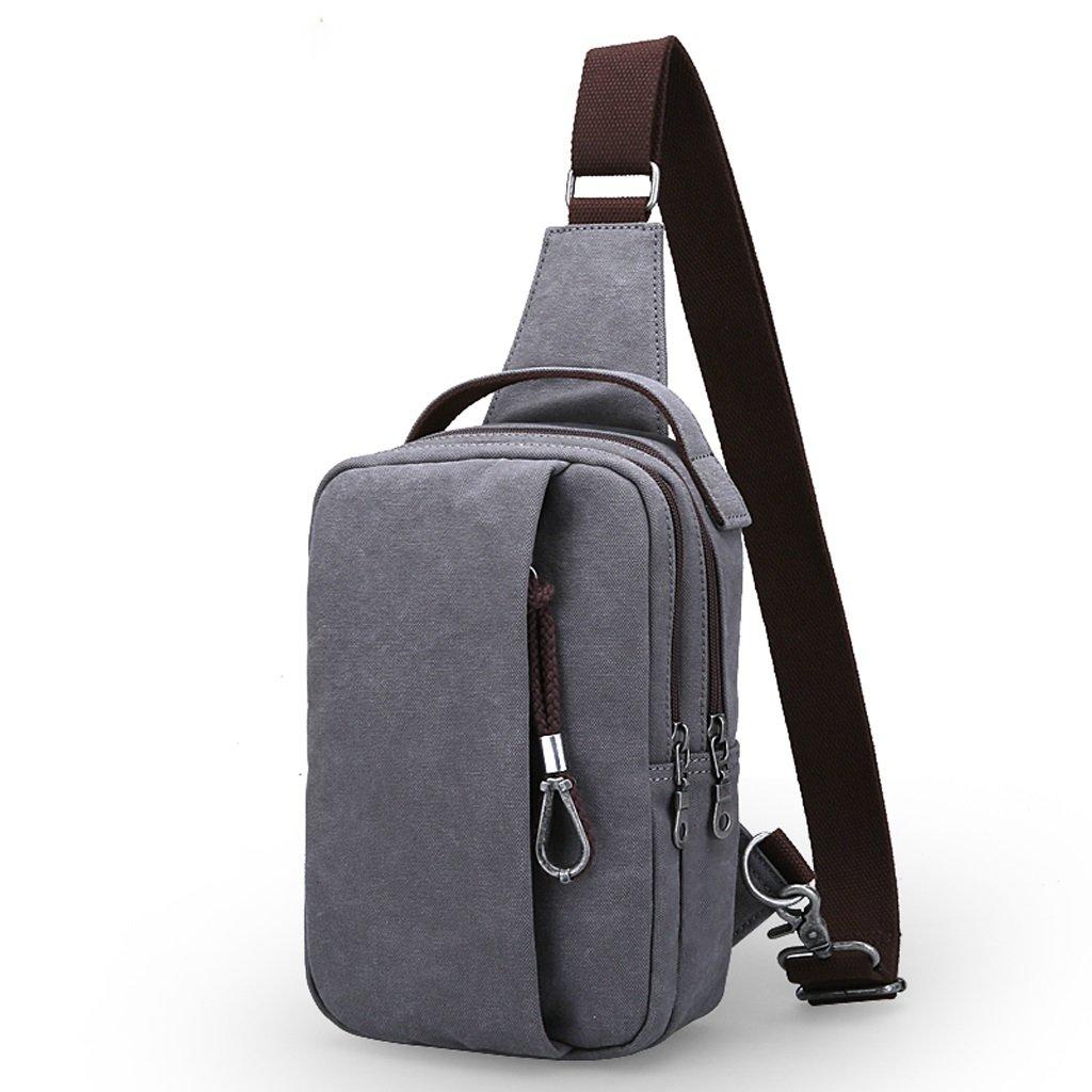 メンズ タイヤバッグ チェストパック ポケット 斜めクロス パッケージ カジュアル キャンバスバッグ バックパック バッグ ショルダーバッグ B07J2W1G4Z