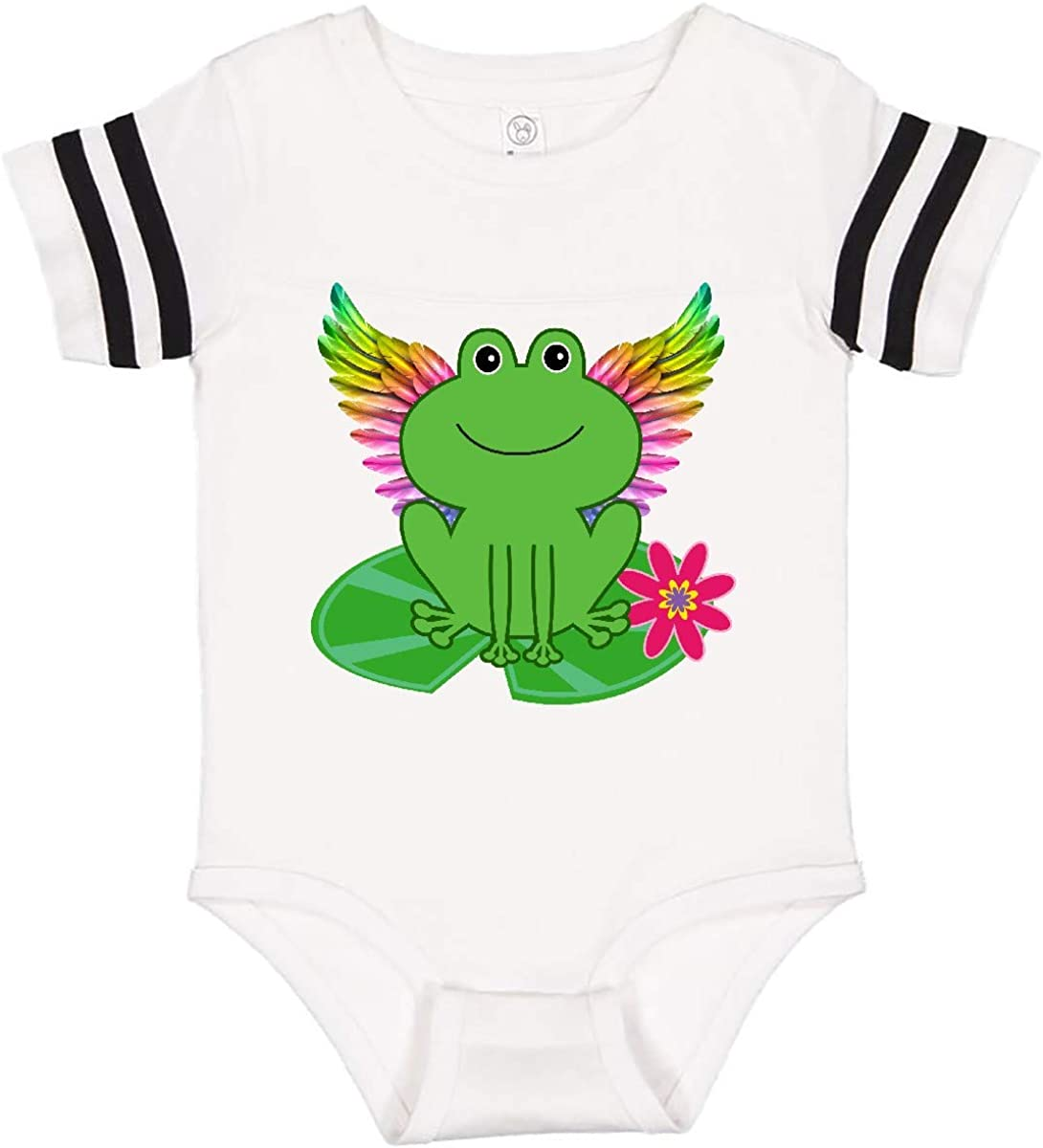 inktastic Frog Lily Pad Wings Infant Creeper
