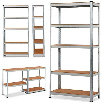 yaheetech 71 5 level shelf shelving unitheavy duty metal adjustable garage storage shelf - Heavy Duty Storage Shelves