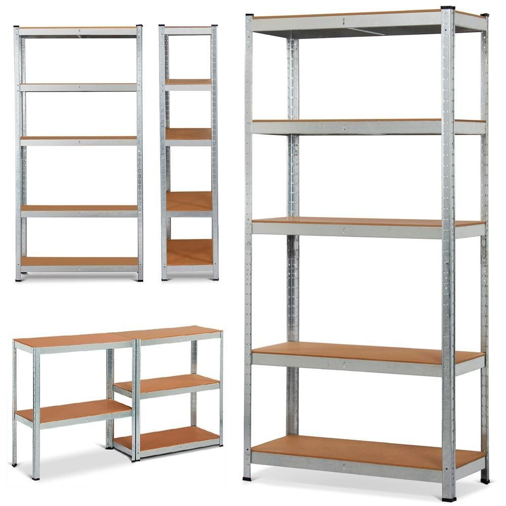 Yaheetech 71'' 5 Level Shelf Shelving Unit,Heavy Duty Metal Adjustable Garage Storage Shelf UtilityRack Silver