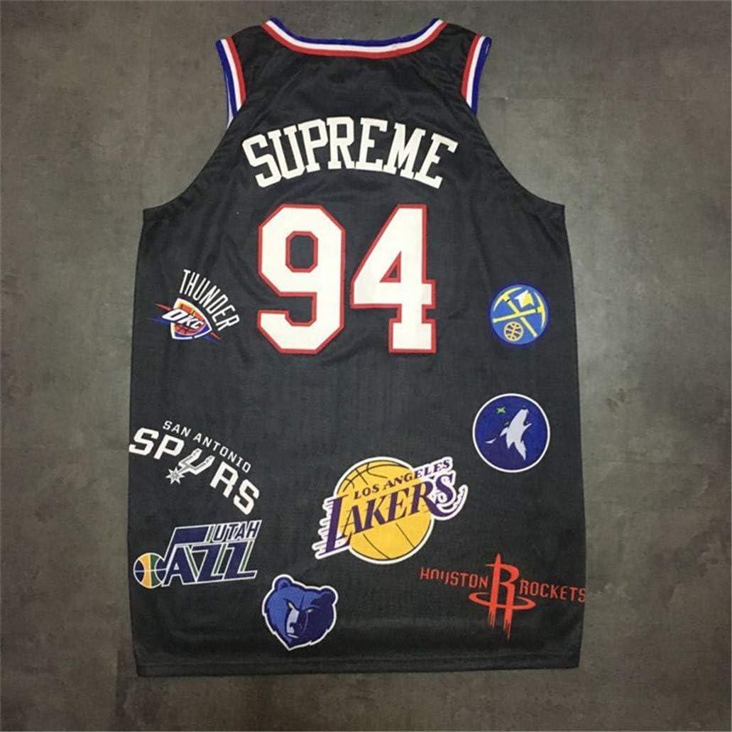 Camisetas Baloncesto #94 Supreme,Chaleco Prensado En Caliente Cuello Redondo Y Marca Compartida Todos Los Logotipos del Equipo Baloncesto Transpirable Swingman Edition Ball Wear